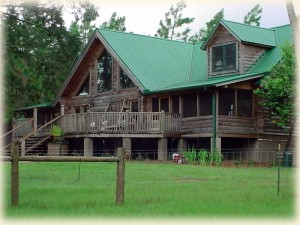 Log home at Golden Acres Ranch