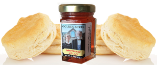 biscuits and Mayhaw Jelly from Golden Acres Ranch