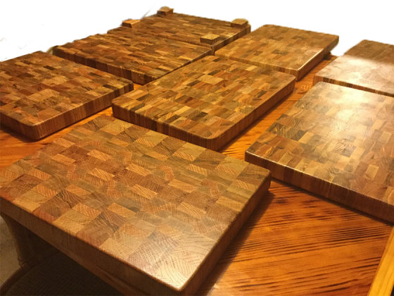 Red Oak cutting boards by George Holm
