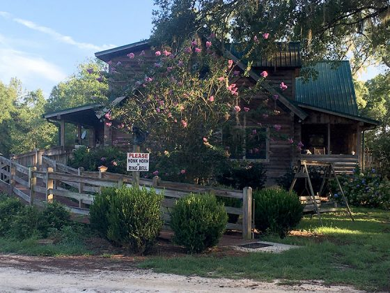 log house July 2016 Golden Acres Ranch Florida