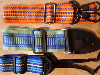 Inkle-woven belts and guitar straps by Julie Paterson Tallahassee