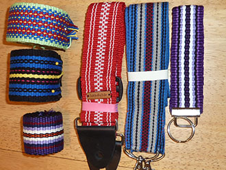 Inkle-woven guitar straps and belts by Julie Paterson Tallahassee