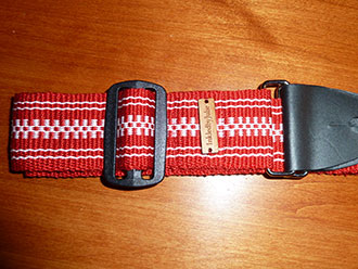 Inkle-woven red belt by Julie Paterson Tallahassee
